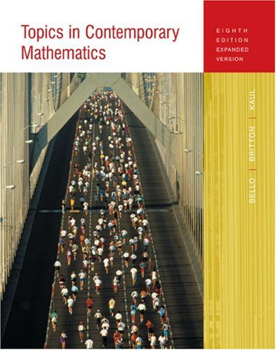 9780618347551: Topics In Contemporary Mathematics (8th Edition Expanded Version)