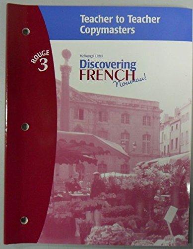 9780618352937: Discovering French Nouveau: Teacher to Teacher Copymasters Level 3