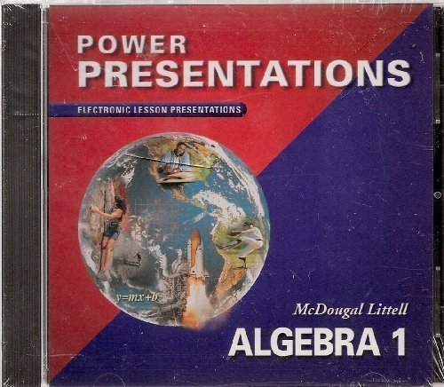 McDougal Littell Algebra 1: Power Presentations CD-ROM (9780618353323) by MCDOUGAL LITTEL