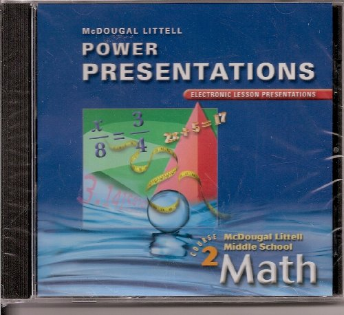 9780618363810: Power Presentations: Electronic Lesson Presentations (Middle School Math Course 2)