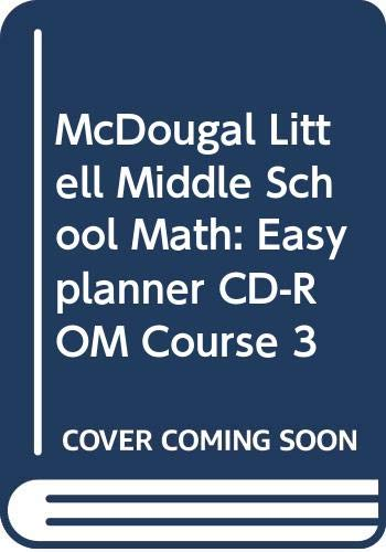 9780618363872: McDougal Littell Middle School Math, Course 3: EasyPlanner CD-ROM