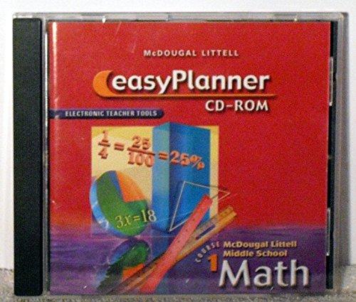 9780618363919: McDougal Littell Middle School Math, Course 1: EasyPlanner CD-ROM