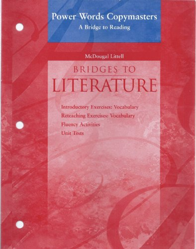 9780618364107: McDougal Littell Language of Literature: Power Words: A Bridge to Reading (copymasters) Level 2