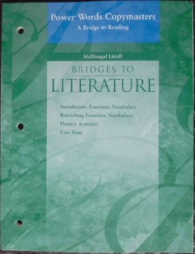 9780618364114: McDougal Littell Language of Literature: Power Words: A Bridge to Reading (copymasters) Level 3