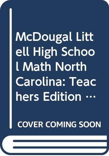 9780618370740: McDougal Littell High School Math North Carolina: Teachers Edition Geometry 2004