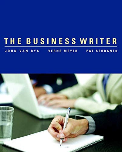 9780618370870: The Business Writer