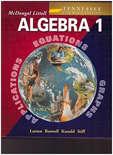 9780618370962: McDougal Littell High School Math Louisiana: Teachers Edition Algebra 1 2005