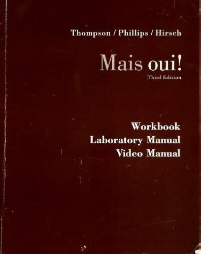9780618371426: Workbook/ Laboratory/ Video Manual: Used with ...Thompson-Mais Oui! (French Edition)