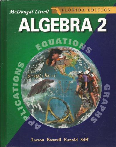 9780618371846: McDougal Littell High School Math Florida: Student Edition Algebra 2 2004