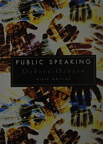 Public Speaking Sixth Edition and Upgrade CD-Rom, Custom Publication: OSBORN