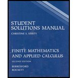 Student Solutions Manual: Used with .Berresford-Finite Mathematics: Geoffrey C. Berresford