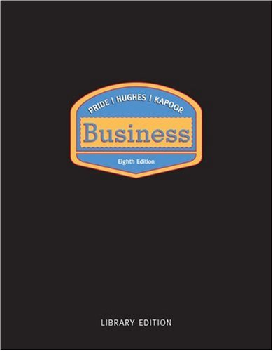 Business Library Eighth Edition: Volume of Pride-Business: William M. Pride
