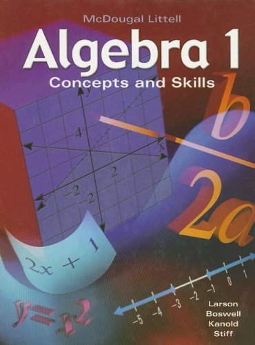 9780618374205: McDougal Littell Algebra 1: Concepts and Skills (Algebra 1: Concepts & Skills)