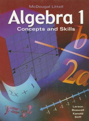 9780618374205: McDougal Littell Algebra 1: Concepts and Skills (Algebra 1: Concepts & Skills)