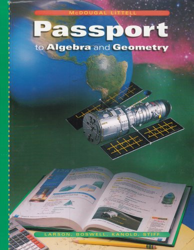 9780618374229: McDougal Littell Passports: Student Edition Algebra and Geometry 2004