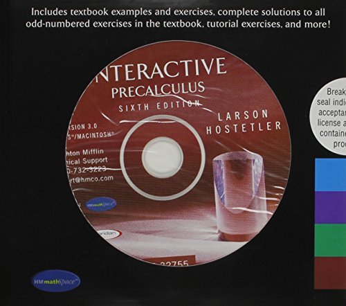 9780618375875: Interactive 3.0 CD-ROM for Larson's Precalculus, 6th