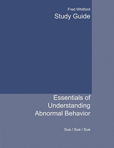9780618376346: Study Guide for Sue/Sue/Sue's Essentials of Understanding Abnormal Behavior