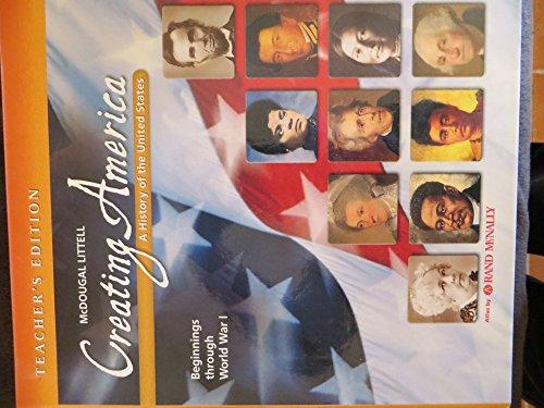 9780618377107: McDougal Littell Creating America: Teacher Edition Grades 6-8 Beginnings through World War l 2005