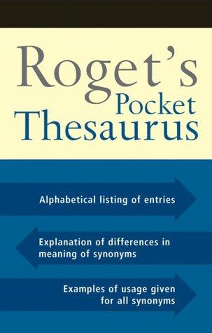 Roget's Pocket Thesaurus: Houghton Miffilin