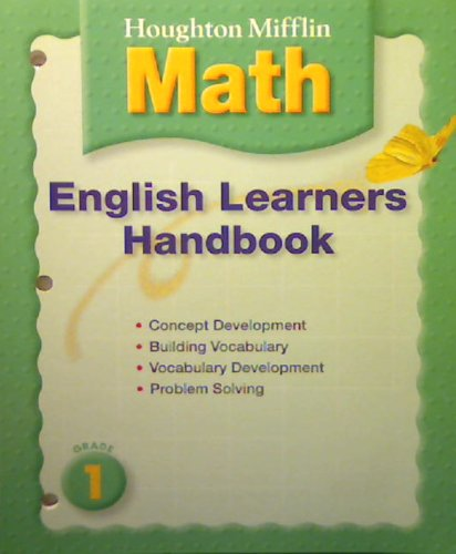 Mathmatics, Grade 1 English Learner Handbook: Houghton Mifflin Mathmatics: Corporate Author-Math