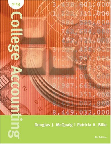9780618381623: College Accounting, Chapters 1-13