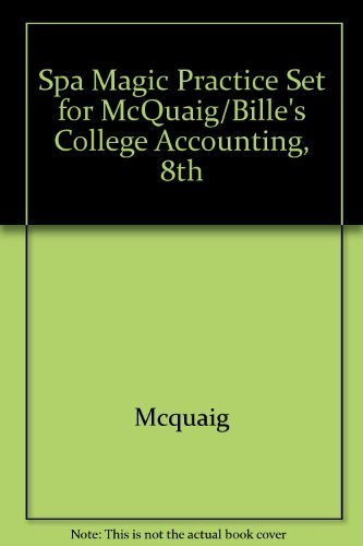 9780618381647: SPA Magic Practice Set for McQuaig/Bille's College Accounting, 8th