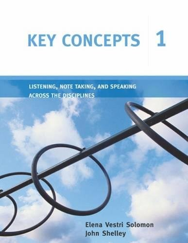 Key Concepts 1: Listening, Note Taking, and Speaking Across the Disciplines (Key Concepts: ...