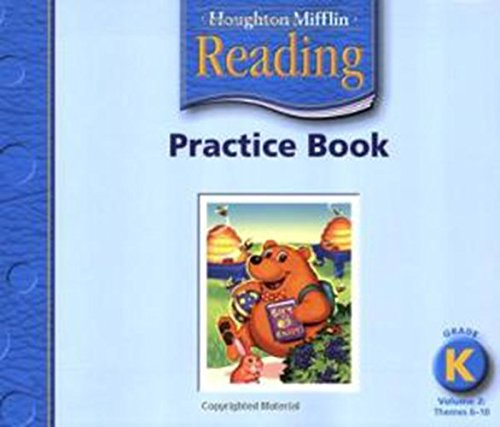 9780618384693: Houghton Mifflin Reading: Practice Book, Volume 2 Grade K