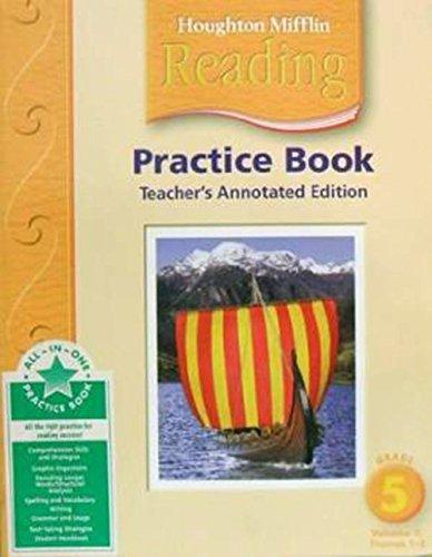 9780618384822: Houghton Mifflin Reading: Practice Book Teacher Annotated Edition Grade 1, Vol. 1