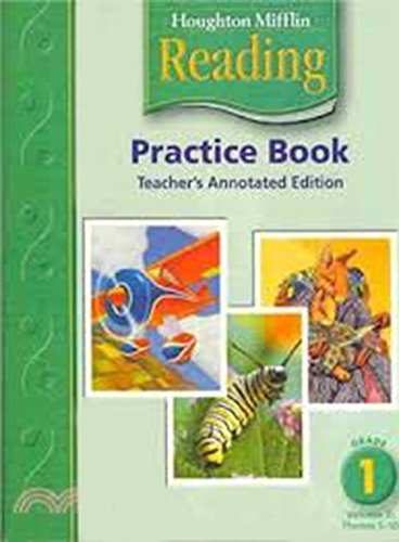 9780618384839: Houghton Mifflin Reading: Practice Book Teacher's Annotated Edition, Level 1, Vol. 2, Themes 5-10