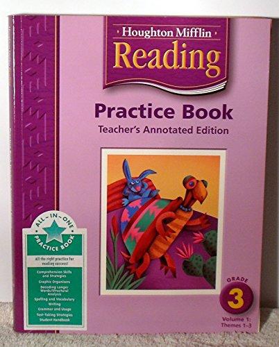 9780618384860: Houghton Mifflin Reading: Practice Book, Teacher's Annotated Edition, Grade 3, Vol. 1