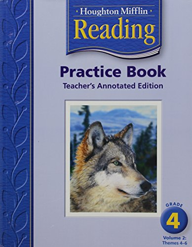 9780618384891: Houghton Mifflin Reading: Practice Book,Grade 4, Vol. 2, Teacher's Annotated Edition