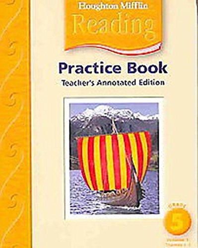 9780618384907: Houghton Mifflin Reading: Practice Book, Teacher's Annotated Edition Vol. 1, Grade 5