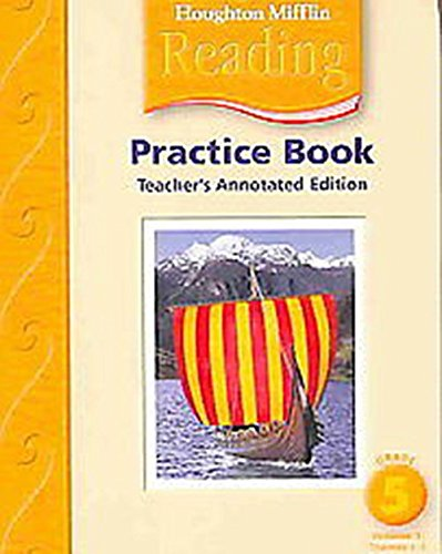 9780618384907: Houghton Mifflin Reading: Practice Book, Teacher's Annotated Edition Vol. 1, Grade 5