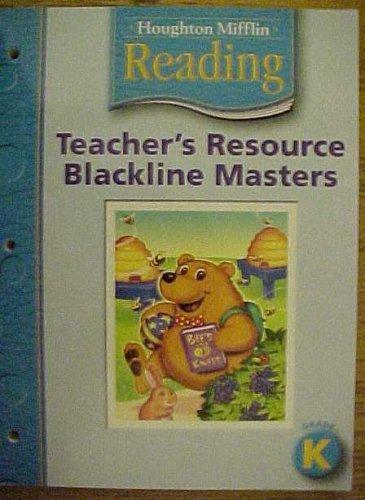9780618385119: Houghton Mifflin Reading: Teacher's Resource, Blackline Masters Grade K