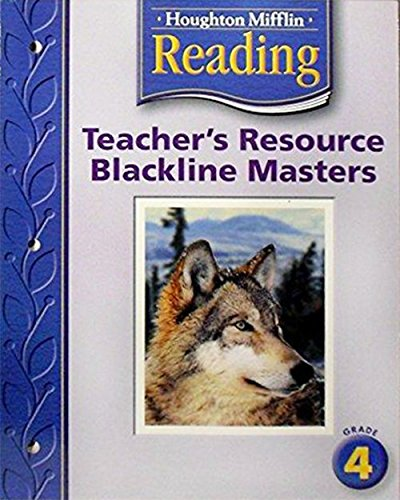 Houghton Mifflin Reading Teacher's Resource Blackline Masters,: J. David Cooper,