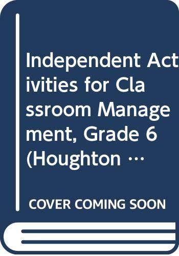 9780618385478: Houghton Mifflin Reading: Classroom Mngmt Hndbk Lv 6
