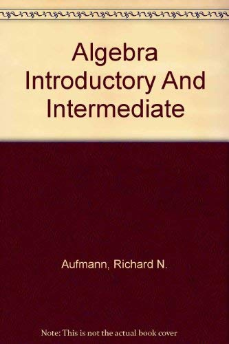9780618386475: Algebra: Introductory And Intermediate: Text with HM3 CD-ROM