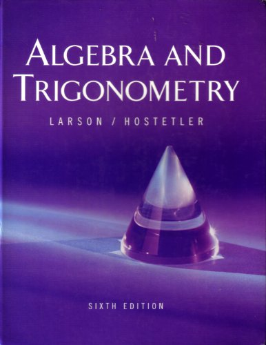 9780618386505: Algebra and Trigonometry: Text with Learning Tools CD-ROM