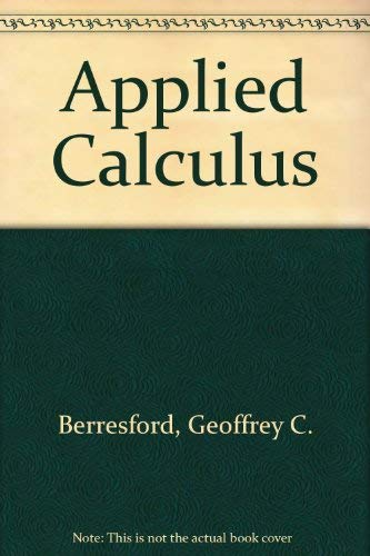 9780618386611: Applied Calculus: Text with free CD-ROM