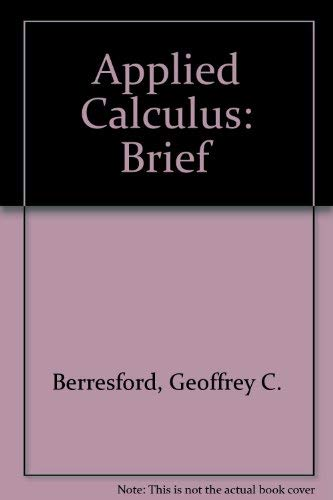 9780618386635: Brief Applied Calculus: Text with free CD-ROM