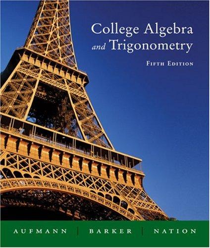9780618386802: College Algebra And Trigonometry