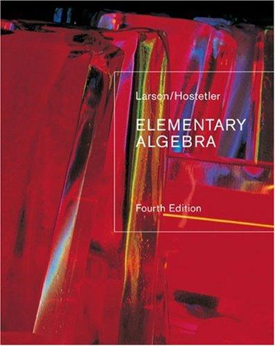 9780618388172: Elementary Algebra