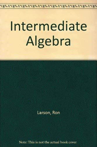 9780618388288: Intermediate Algebra (Student Support Edition, 4th)
