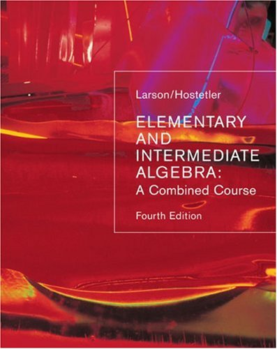 9780618388363: Elementary and Intermediate Algebra: A Combined Course