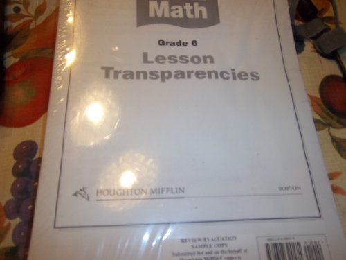 Houghton Mifflin Math Grade 6 Lesson Transparencies: HOUGHTON MIFFLIN