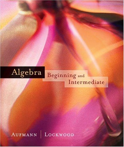 9780618391844: Algebra: Beginning and Intermediate