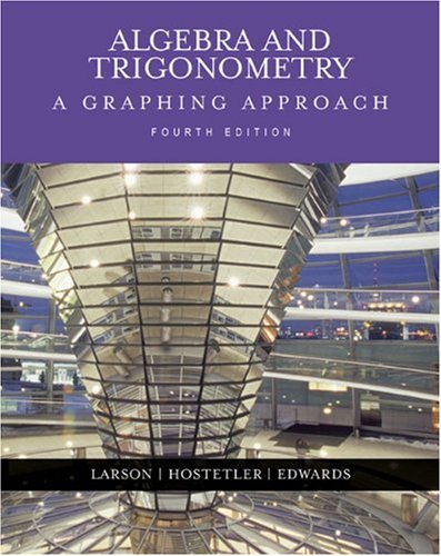 9780618394555: Algebra and Trigonometry: A Graphing Approach (4th Edition)