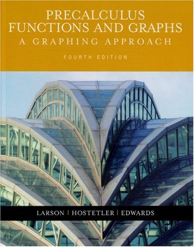 9780618394760: Precalculus Functions and Graphs: A Graphing Approach