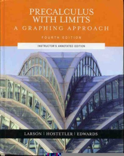9780618394791: Pre-calculus With Limits: A Graphing Approach, Instructor's Annotated Edition